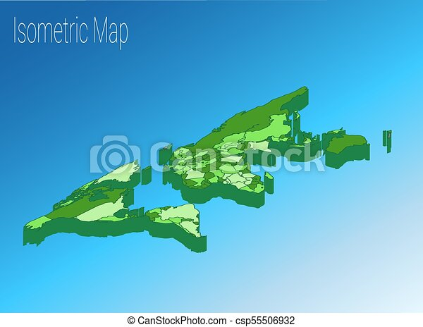 Map world isometric concept 3d flat illustration map world map world isometric concept 3d flat illustration gumiabroncs Image collections