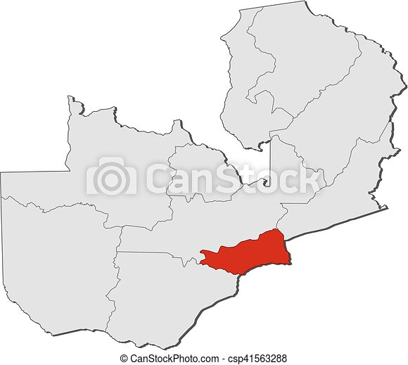 Map - zambia, lusaka. Map of zambia with the provinces, lusaka is ...