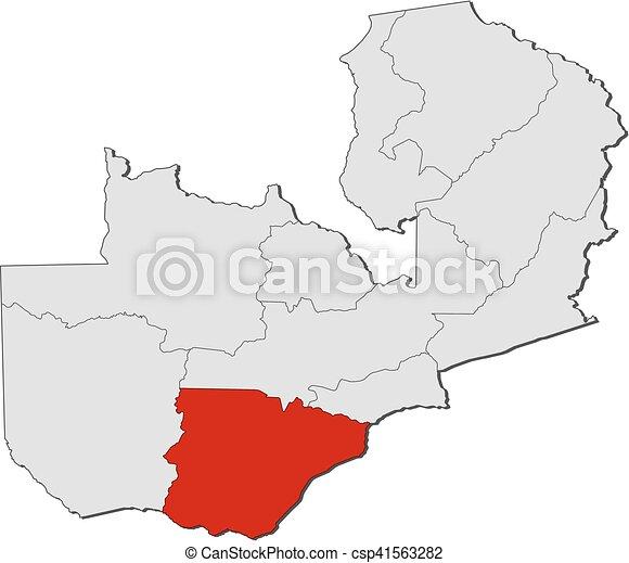Map - Zambia, Southern