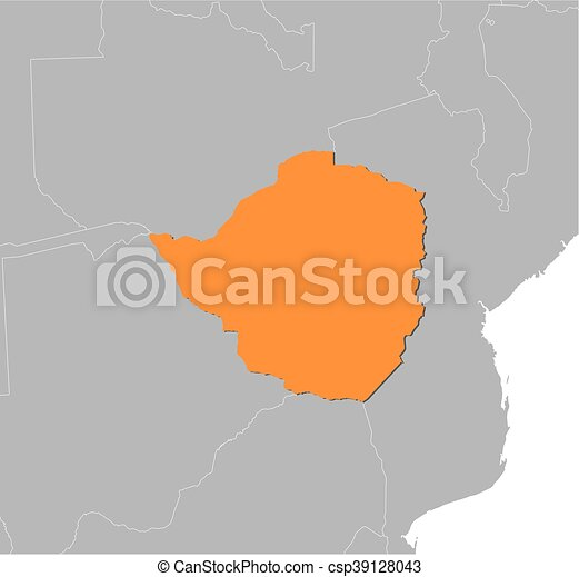 Map zimbabwe map of zimbabwe and nearby countries zimbabwe is map zimbabwe csp39128043 gumiabroncs Gallery