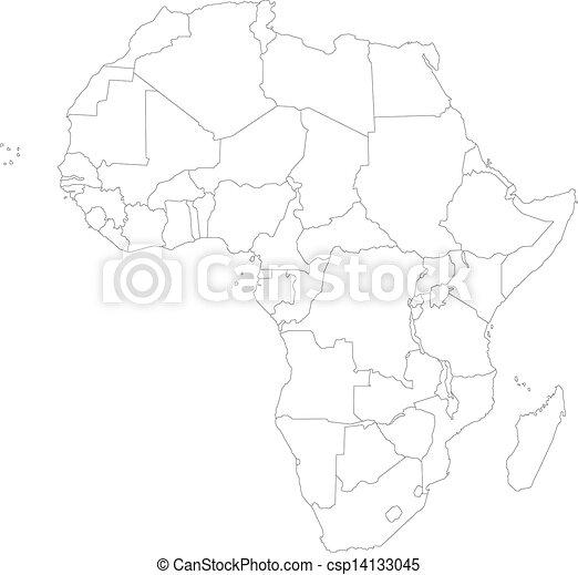 El mapa de África - csp14133045