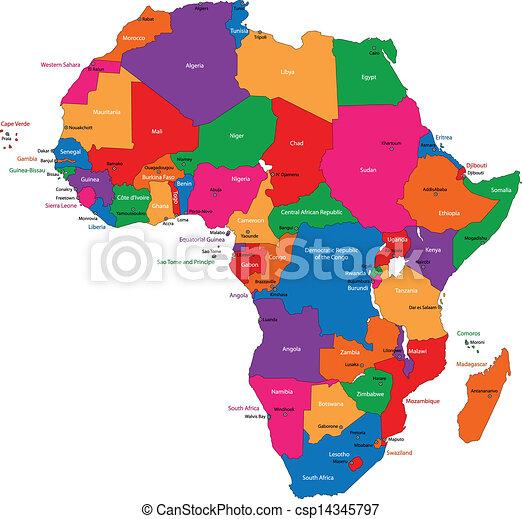 El mapa de África - csp14345797