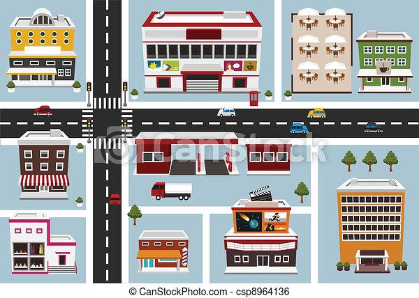 Mapa de área comercial - csp8964136