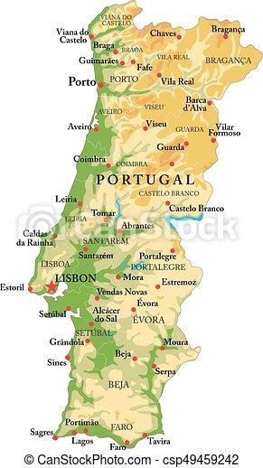 mapa de portugal em grande Mapa, alívio, portugal. Detalhado, mapa, tudo, grande, altamente  mapa de portugal em grande