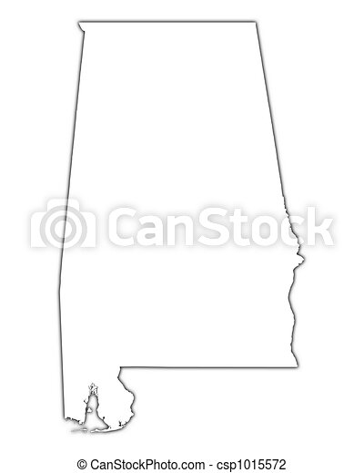 mapa, alabama, (usa), esboço - csp1015572