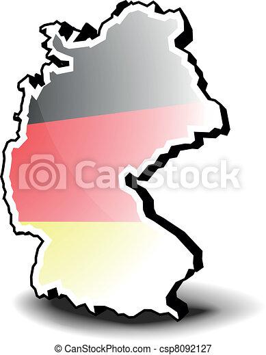 El mapa 3D de Alemania - csp8092127