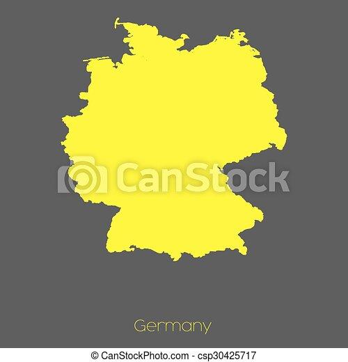 Mapa del país de Alemania - csp30425717