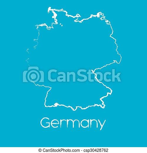 Mapa del país de Alemania - csp30428762