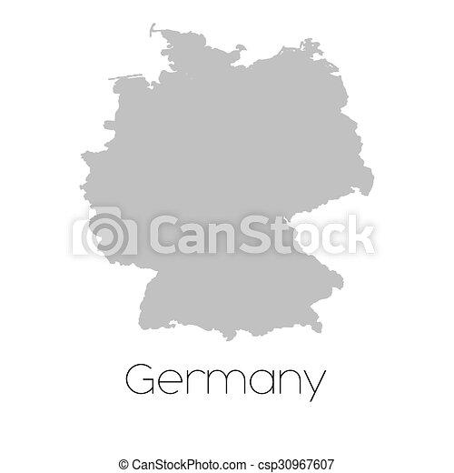 Mapa del país de Alemania - csp30967607