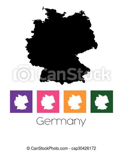Mapa del país de Alemania - csp30426172