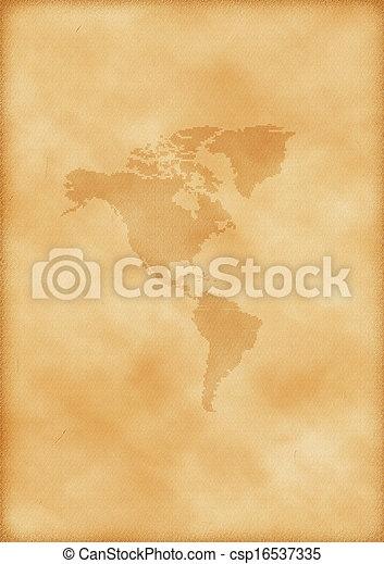 mapa, américa, antigas - csp16537335
