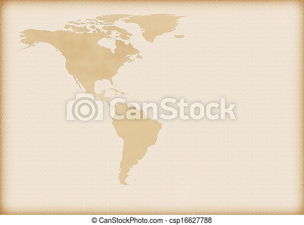 mapa, américa, antigas - csp16627788