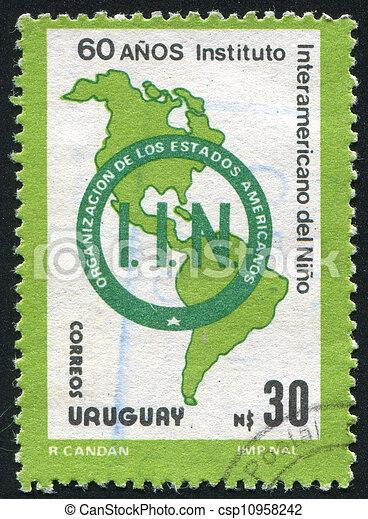 mapa, américa - csp10958242