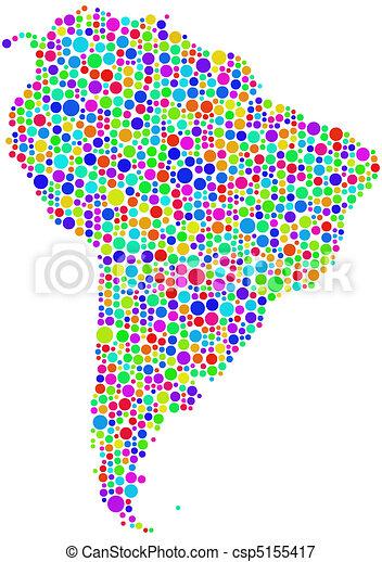 Ilustracin vectorial de mapa amrica latina  The figura es