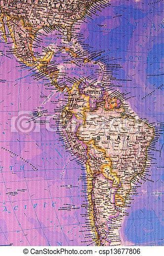 mapa, américa, sul - csp13677806