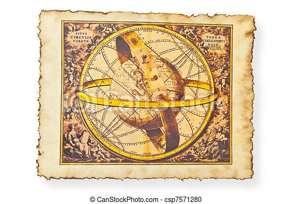 mapa antigüidade, mundo - csp7571280