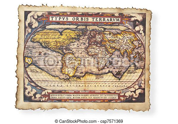 mapa antigüidade, mundo - csp7571369
