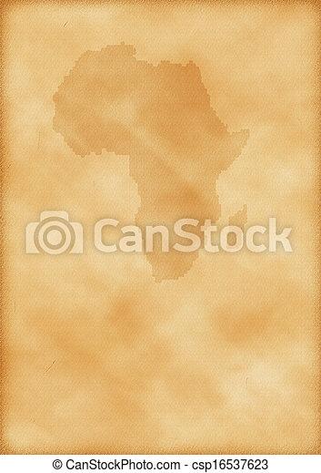 mapa, antigas, áfrica - csp16537623