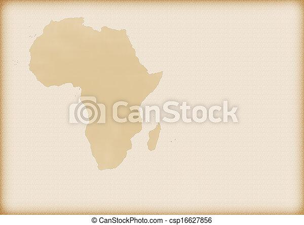 mapa, antigas, áfrica - csp16627856