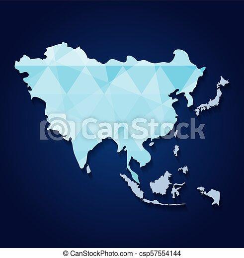 El icono del mapa de Asia - csp57554144