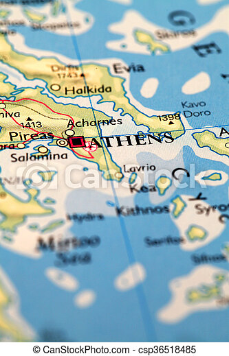 Mapa Ateny Atlas Mapa Grecja Ateny Swiat