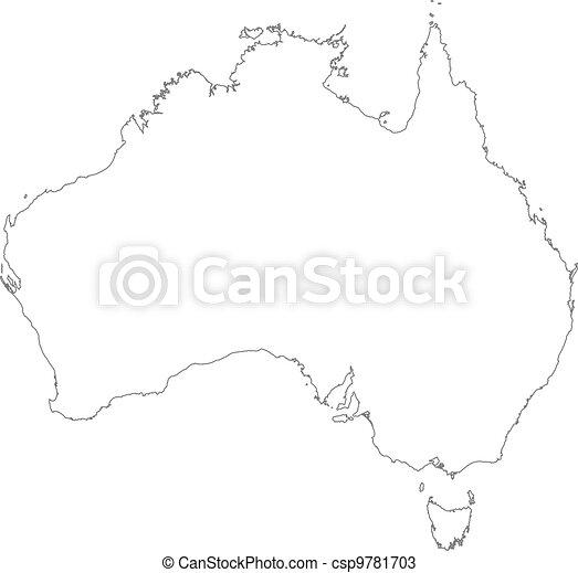 Mapa, australia, político, varios, states.