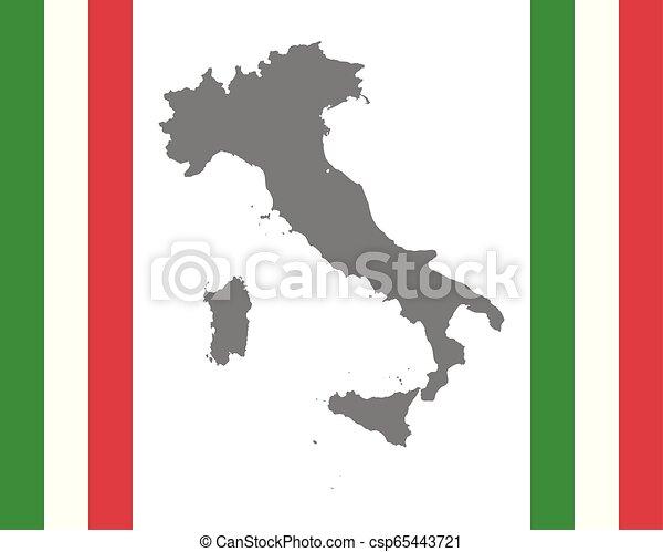 mapa, bandeira, italiano - csp65443721