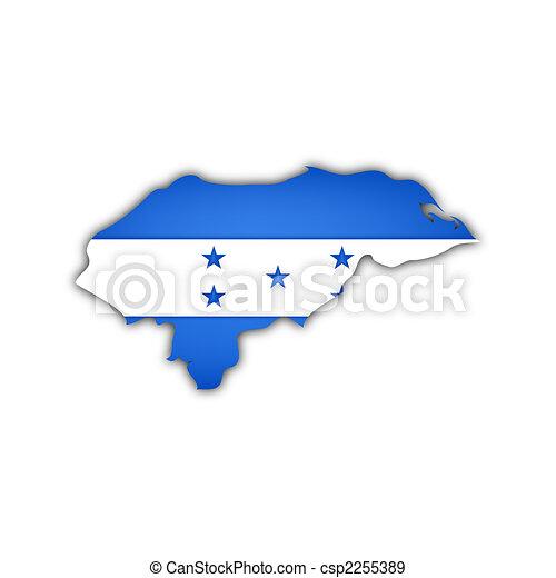 mapa, bandera, honduras - csp2255389