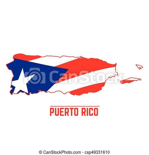 mapa bandera puerto rico mapa ilustración bandera vector rico