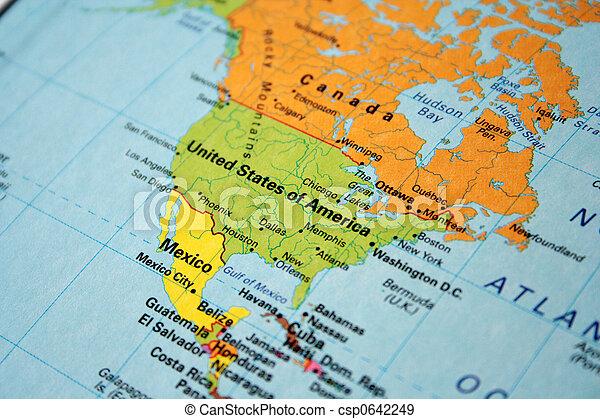Mapa Canada Eua