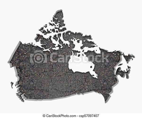 El Mapa De Carreteras De Canada Construccion De Infraestructura