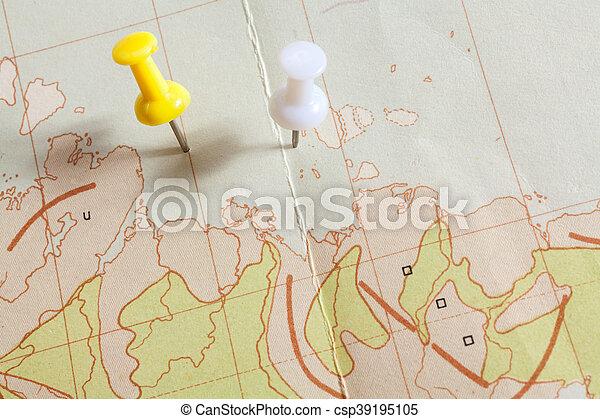 Un golpe en el mapa - csp39195105