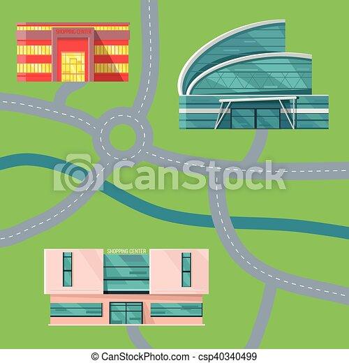 Ilustración de vectores de vector del mapa central. - csp40340499