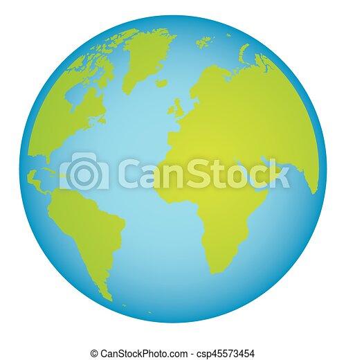 Mapa Continentes Colorido Mundo Tierra 3d