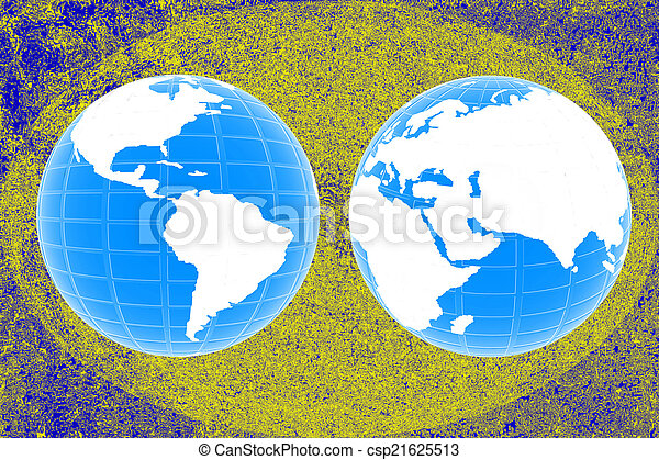 mapa, criativo, mundo - csp21625513
