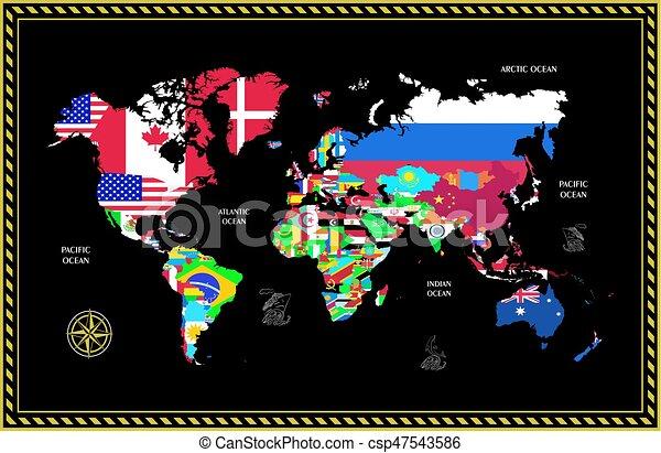 El mapa del mundo - csp47543586