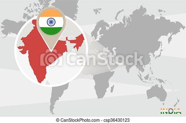 Mapa De La India En El Mundo.Mapa Del Mundo India Magnificado Mapa Map India