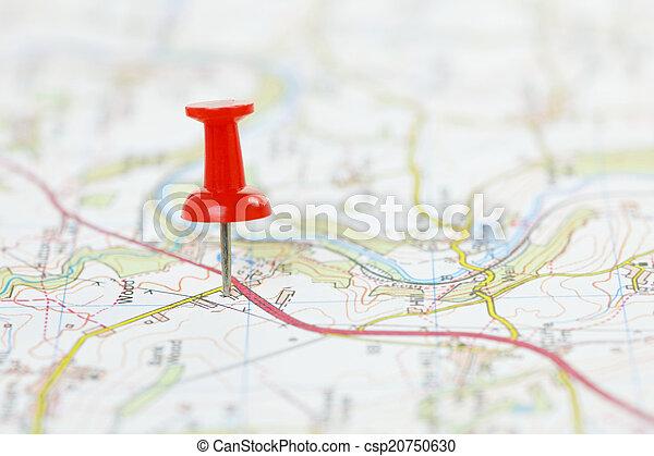 Destino en un mapa - csp20750630