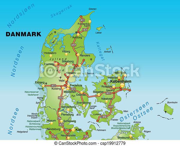 roskilde danmark karta Carreteras, mapa, dinamarca. roskilde danmark karta