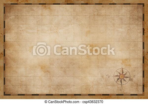 Un viejo mapa de fondo - csp43632370