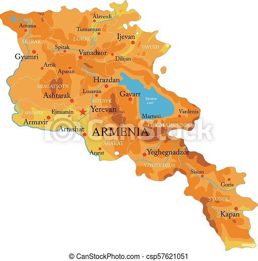 Mapa de ayuda de Armenia - csp57621051