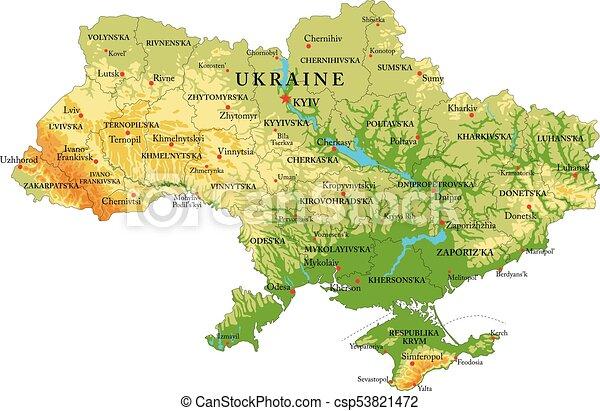 Mapa de ayuda Ucrania - csp53821472