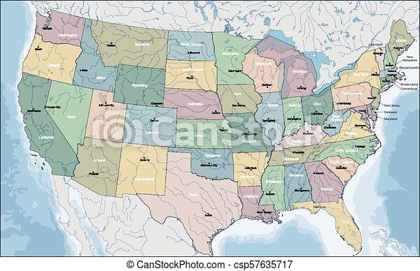 Mapa de EE.UU - csp57635717