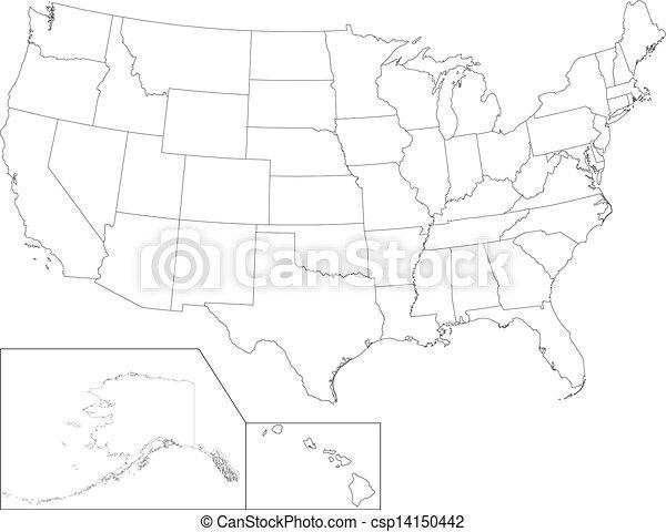 El mapa de Estados Unidos - csp14150442