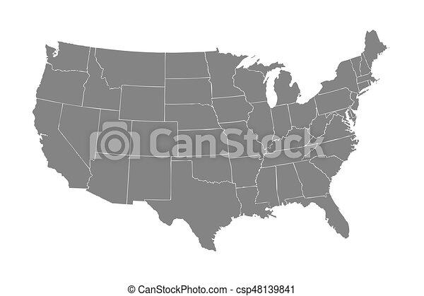 Usa mapa - csp48139841