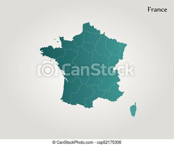 mapa, francja - csp52175306