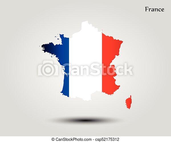 mapa, francja - csp52175312