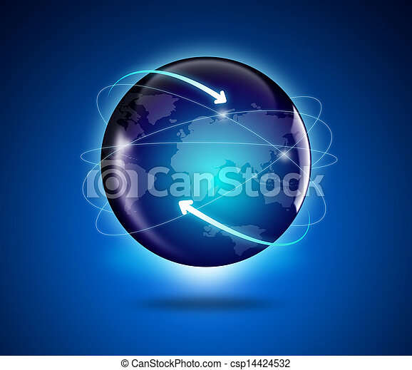 mapa, globo, mundo - csp14424532