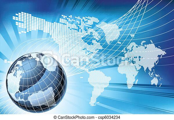 mapa, globo, palabra, plano de fondo, tierra - csp6034234