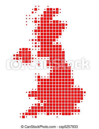 Mapa de Gran Bretaña - csp5257933